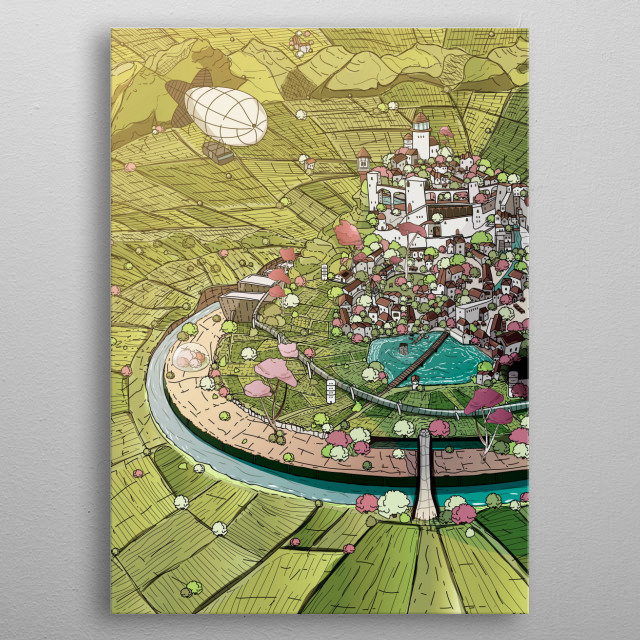 This is  La Campiña  a place where you will learn how to really enjoy life. metal poster