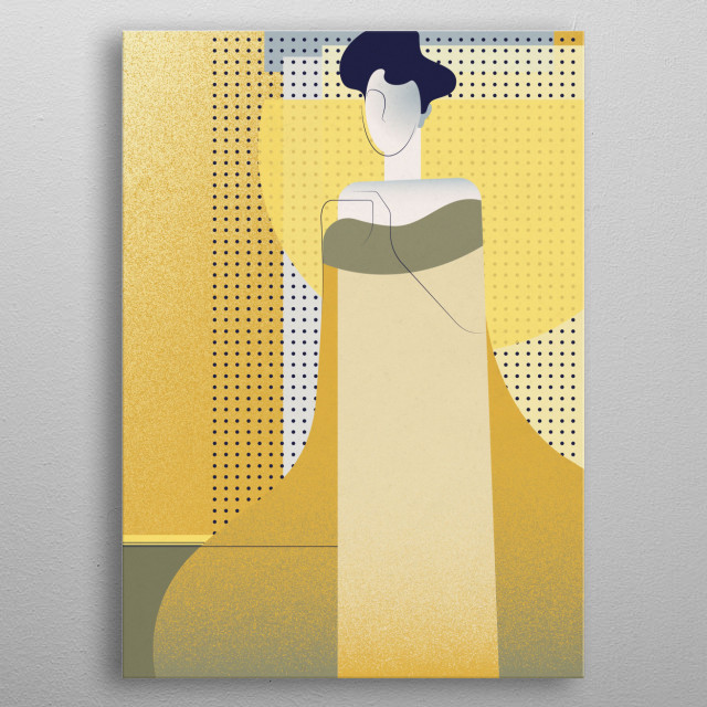 "Neo-pop interpretation of Gustav Klimt ""Portrait of Adele Bloch-Bauer I""  metal poster"