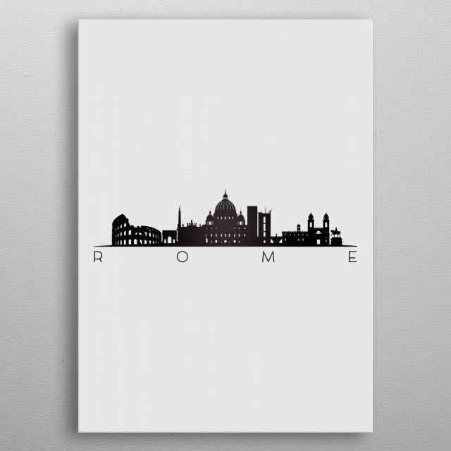 Rome Italy metal poster