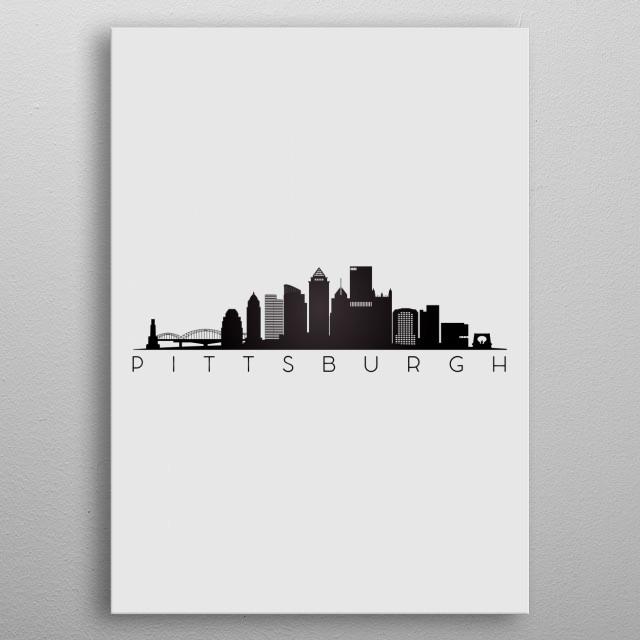 Pittsburgh USA metal poster
