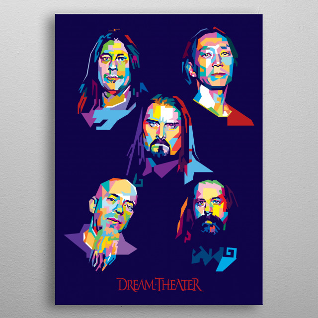Dream Theater. American progressive metal band formed in 1985 metal poster