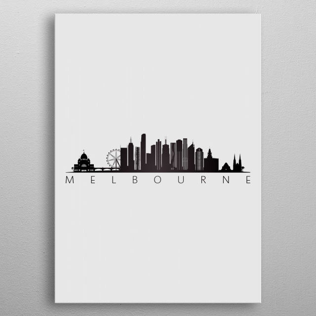 High-quality metal print from amazing Simple Black Skylines collection will bring unique style to your space and will show off your personality. metal poster
