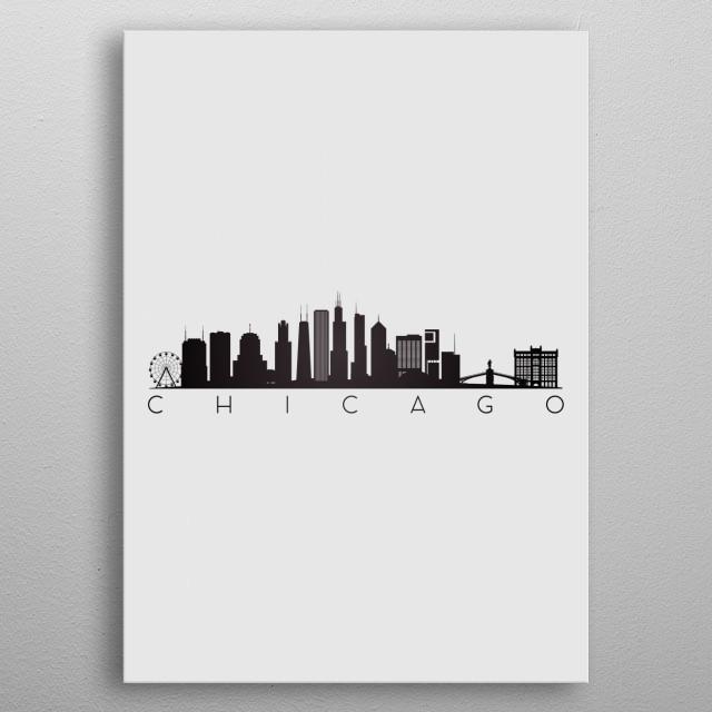 Chicago USA metal poster
