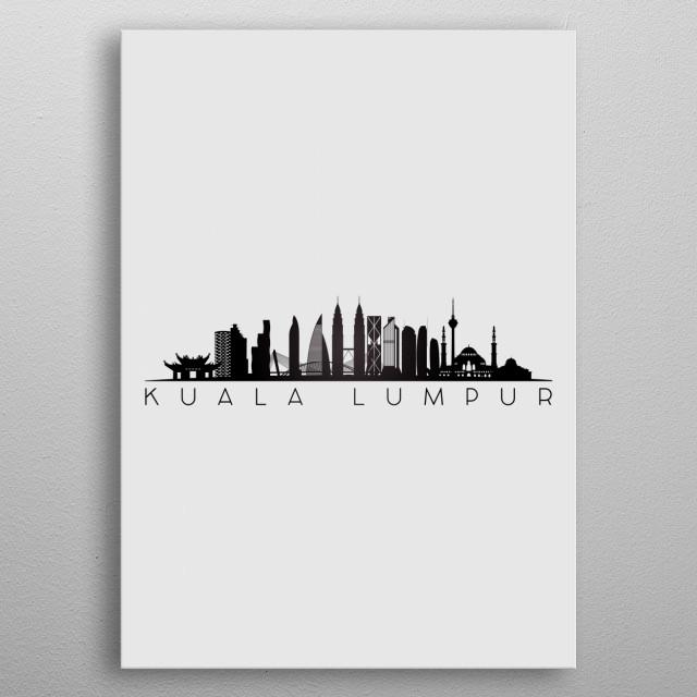 Kuala Lumpur Malaysia metal poster