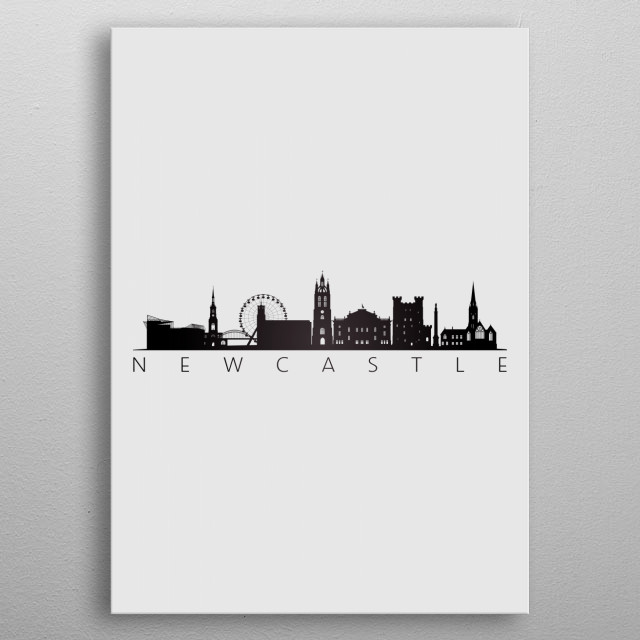 Newcastle England metal poster