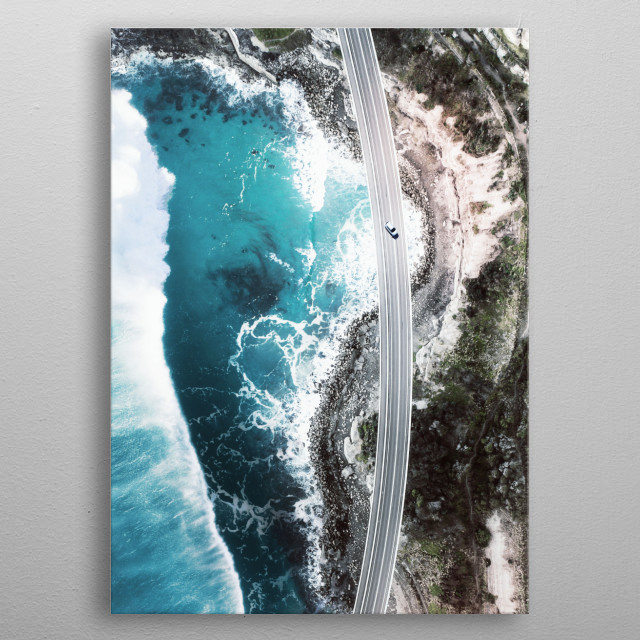 Beautiful view from above of a stunning bridge in Australia. See the entire collection !  metal poster