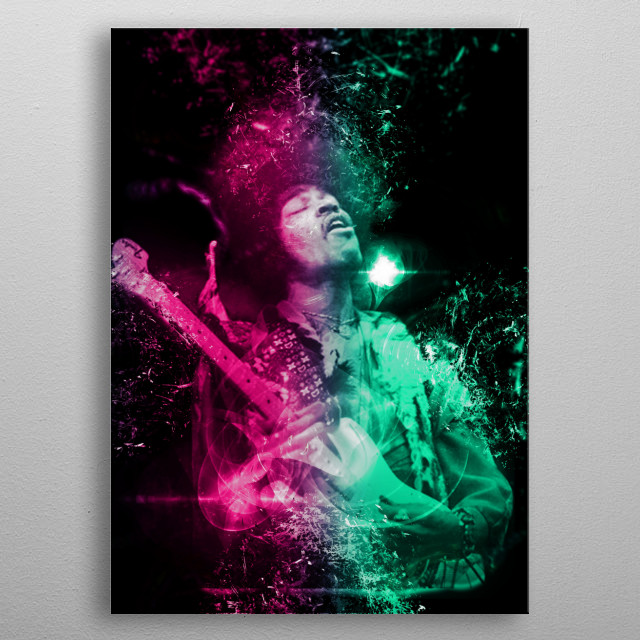 Jimi Hendrix is a musician, singer, songwriter, guitarist and American cultural figure. metal poster