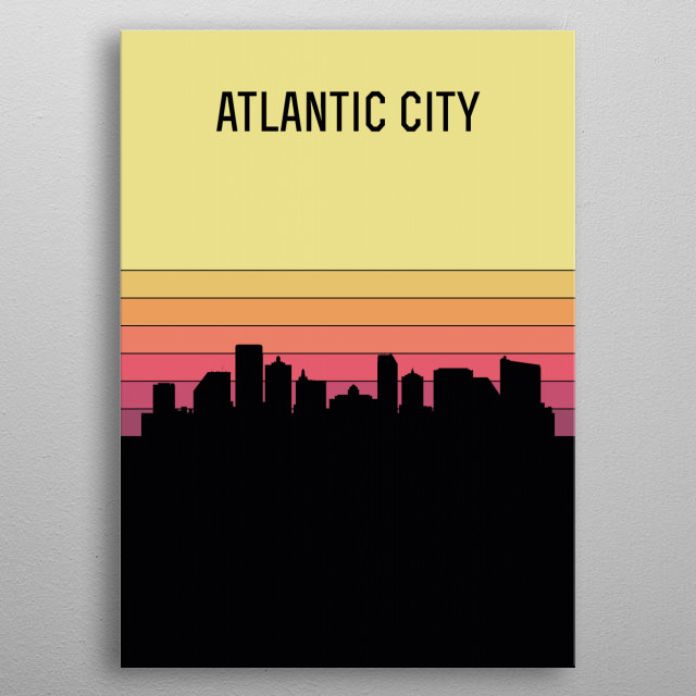 High-quality metal print from amazing Skylines Of Us Cities collection will bring unique style to your space and will show off your personality. metal poster