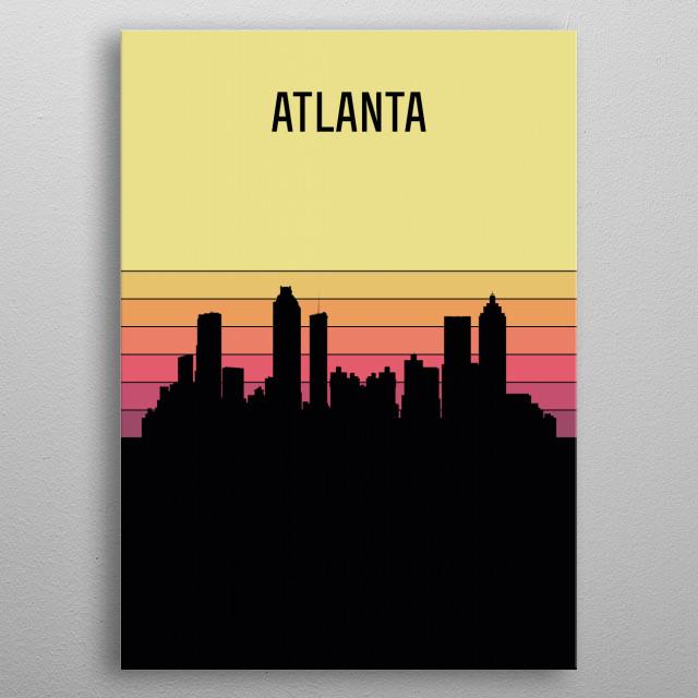 Atlanta Skyline metal poster