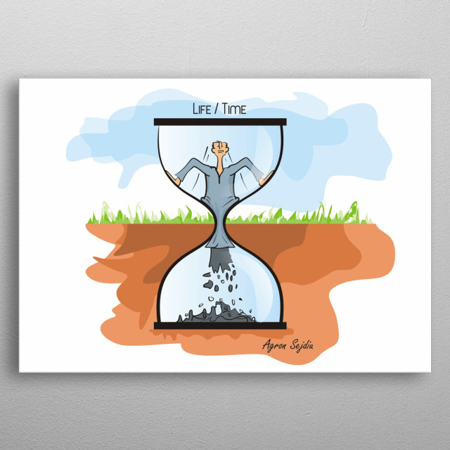 life and time metal poster