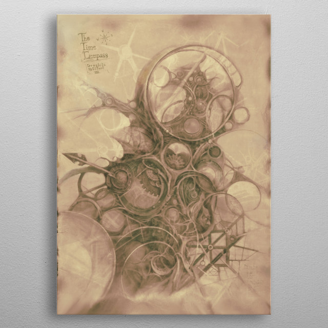 Another weird design coming right from Imaginery Lands! The right tool to find one's way through time. Usage guide: just need to believe it! metal poster