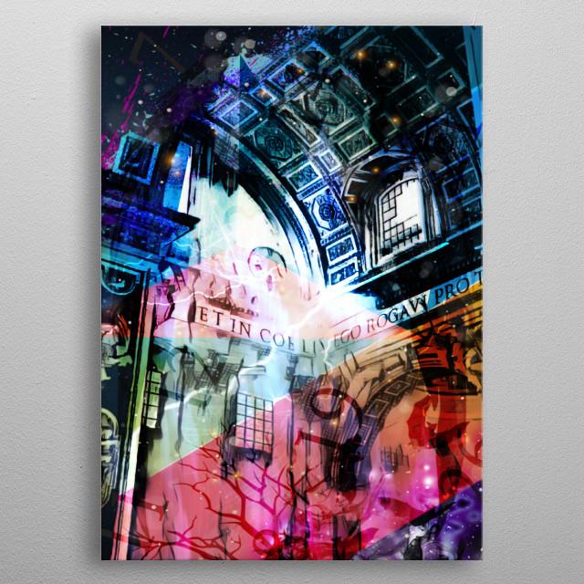 Masterpiece gothic architecture design metal poster