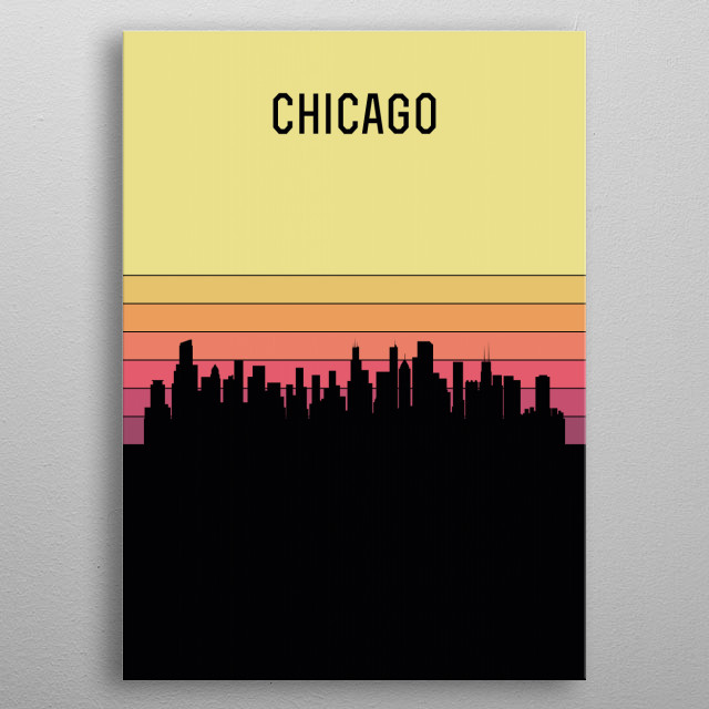 Chicago Skyline metal poster