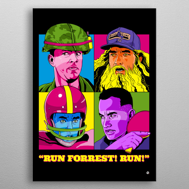 My mama always say life is like a box of chocolates, you have to run! metal poster