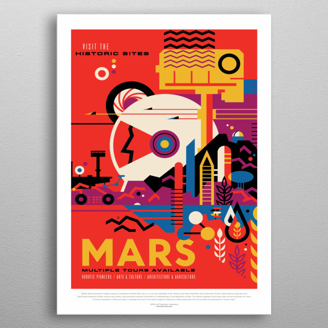 Mars - Multiple Tours Available  metal poster