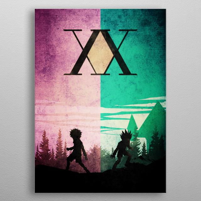 HXH tribute metal poster