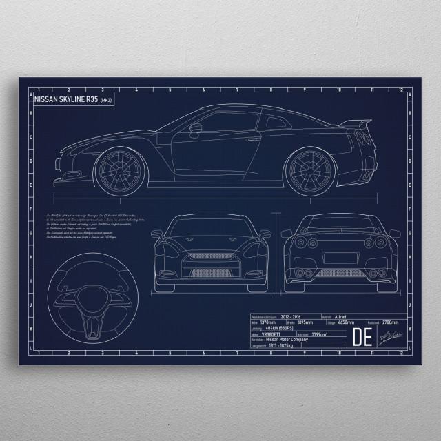Blueprint / Artwork  metal poster
