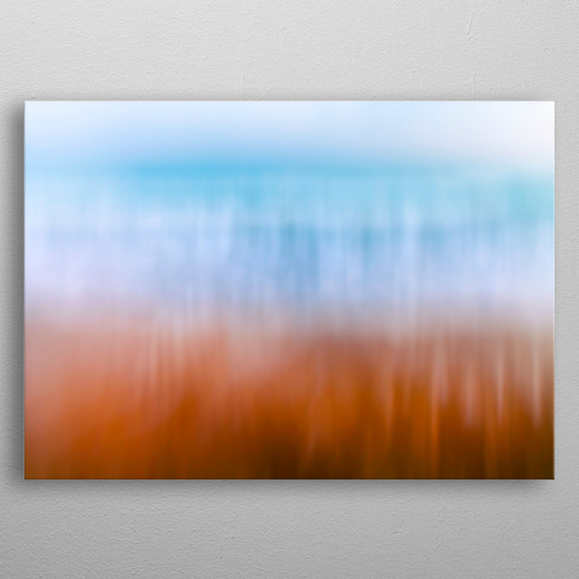 Sea, beach and solitude concept metal poster
