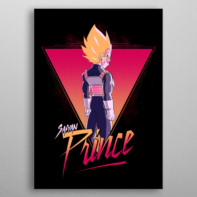 Retro Vegeta :) metal poster