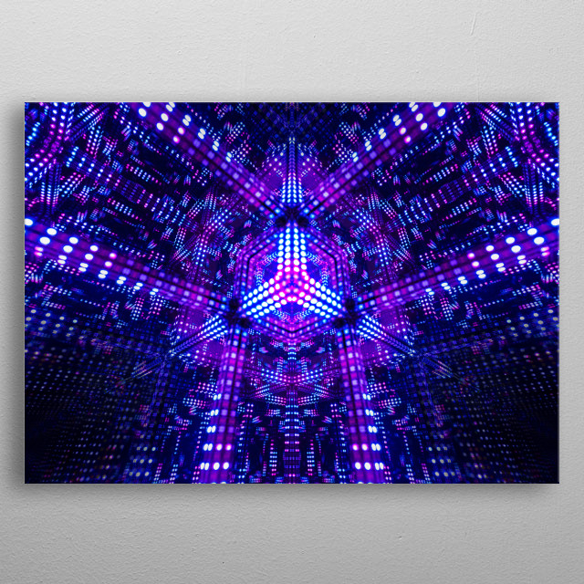 Deep Space Location of Inner Focus Inspired by the guys at Hyperspace Lighting :  metal poster