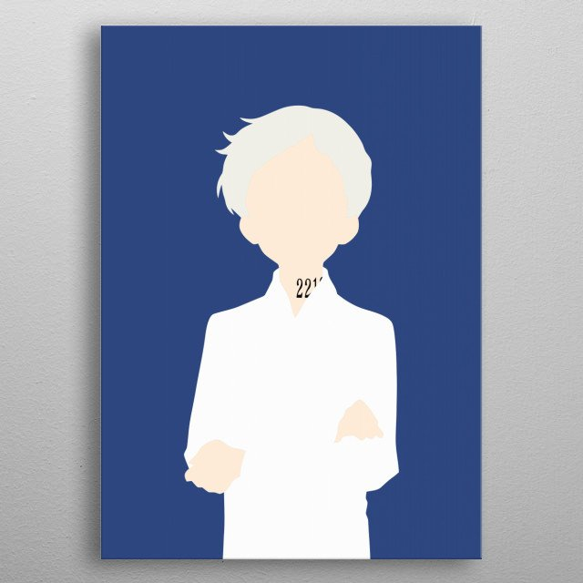 Norman - The Promised Neverland metal poster