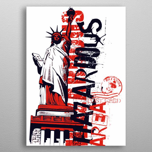 Hazardous Area new york city metal poster