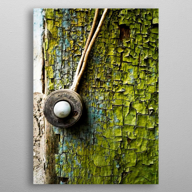 Photo of a door bell somewhere at old Rostov made my me around 2007.  Was exhibited at Rostov and Moscow. Original is 60x45. metal poster