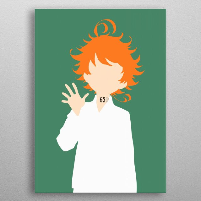 Emma - The Promised Neverland metal poster