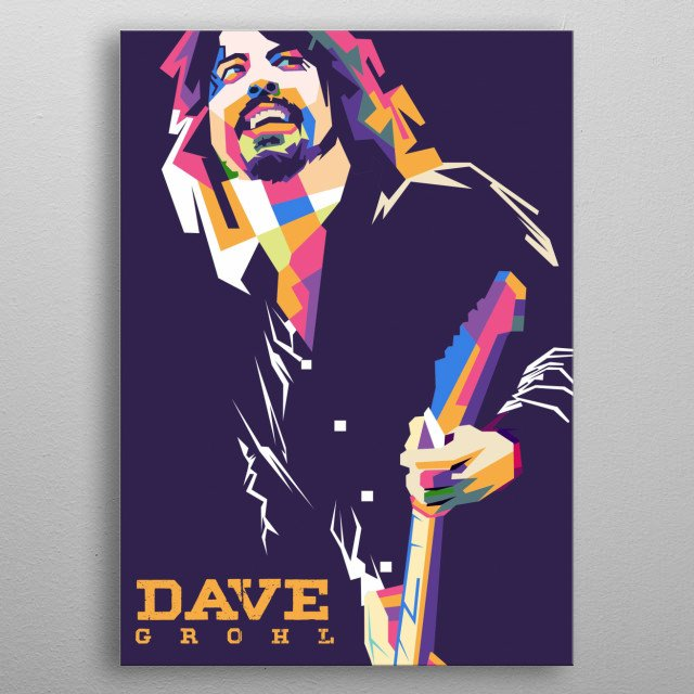 dave grohl in wpap style pop art metal poster