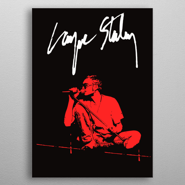 Layne Staley, from Alice in Chains. Monochromatic vector art. metal poster