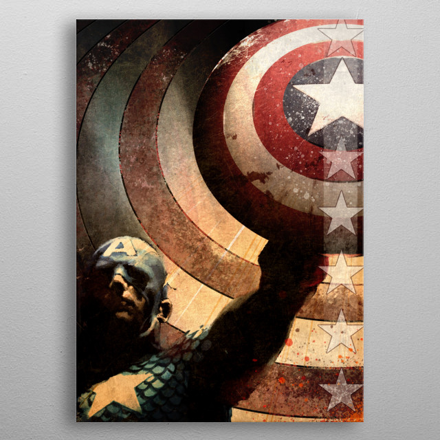High-quality metal print from amazing Captain America Marvel 80Th Anniversary collection will bring unique style to your space and will show off your personality. metal poster