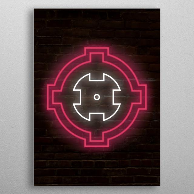 ONE_shot_GURL's classic crosshair logo designed by Jose G. & Jacko! metal poster