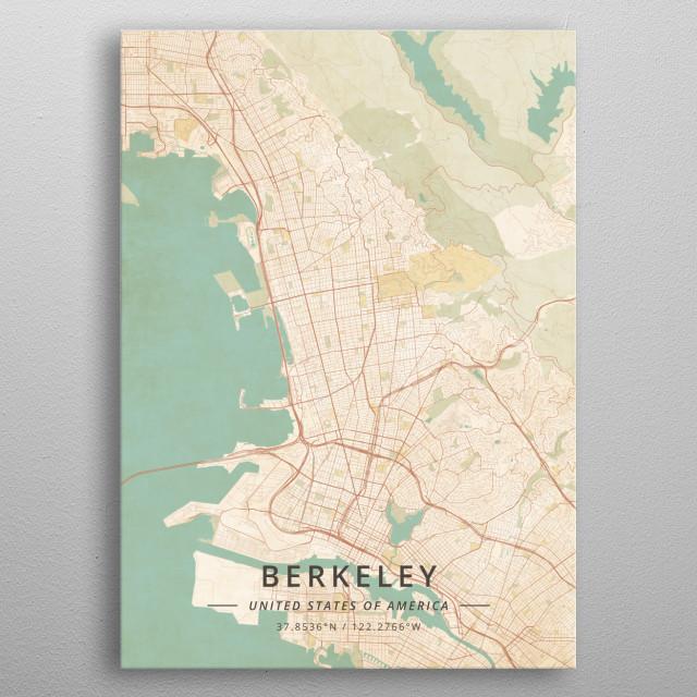 Berkeley, United States of America metal poster