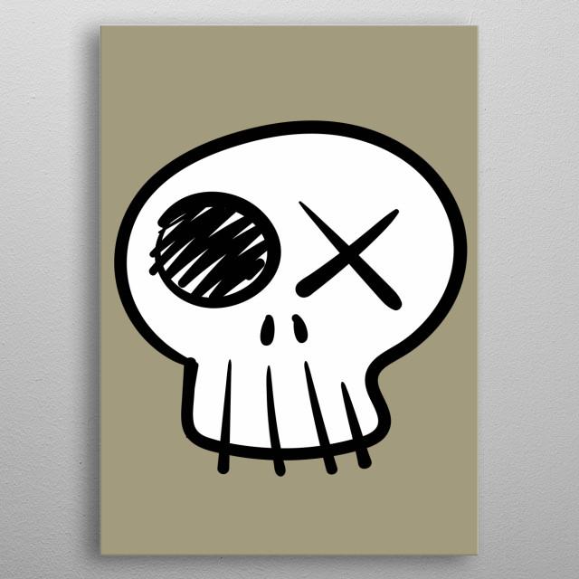 Funny skull. metal poster