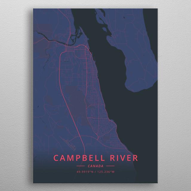Campbell River, Canada metal poster