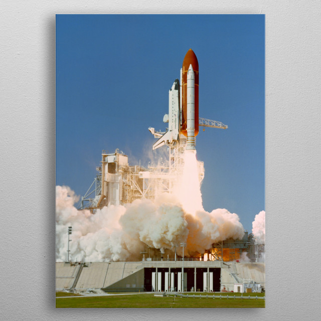 Space Shuttle Atlantis STS-27 mission metal poster
