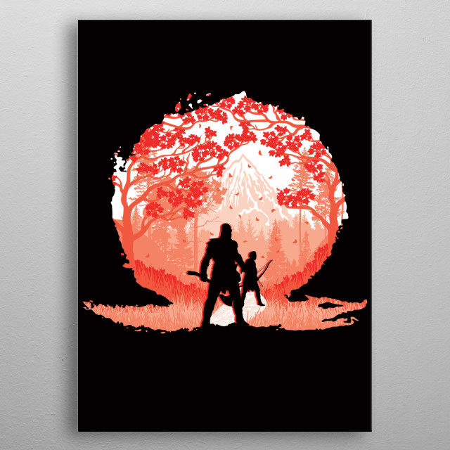"""Inspired by the game """"God Of War."""" I hope you like it! :) metal poster"""