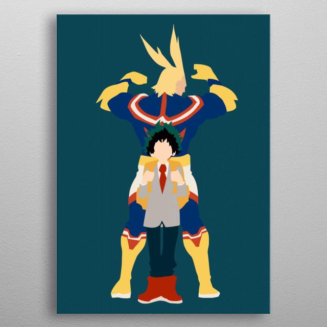Izuku & All Might - My Hero Academia  metal poster