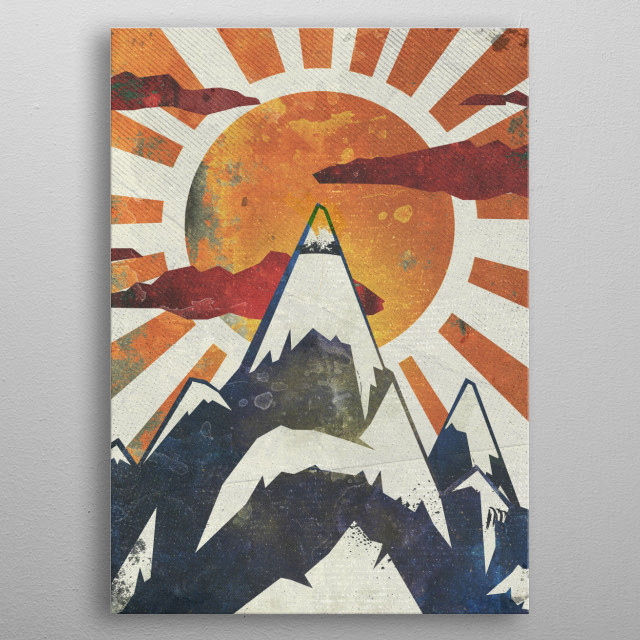 Turning the RAF colors into a wanderlust mountains and landscape piece. metal poster