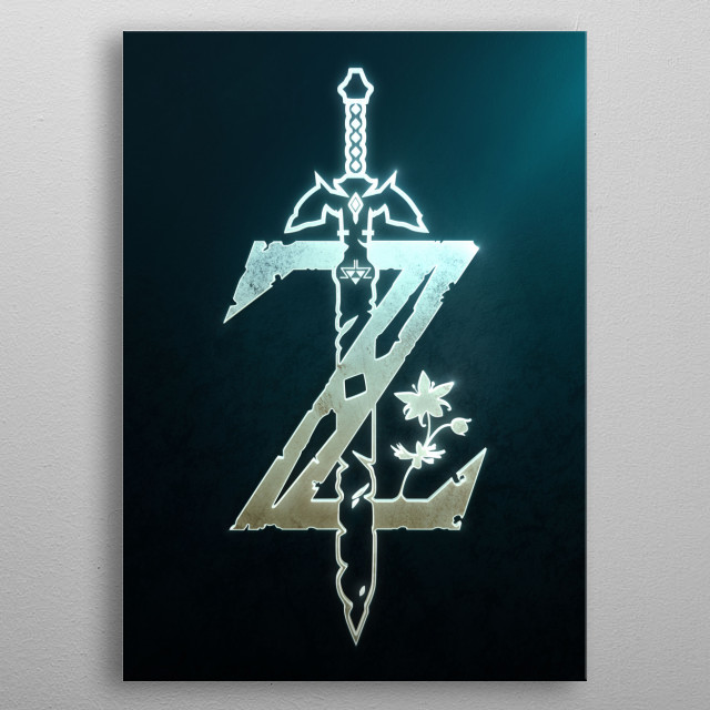 Breath of the Wild Silver metal poster