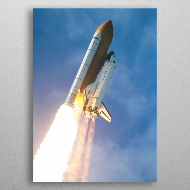 Space Shuttle Atlantis STS-129 mission metal poster