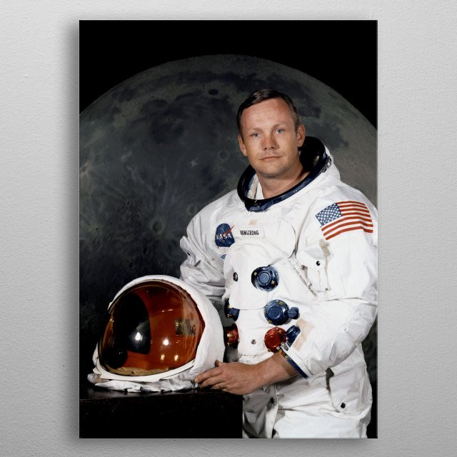Portrait of NASA astronaut Neil Armstrong (Apollo 11) metal poster