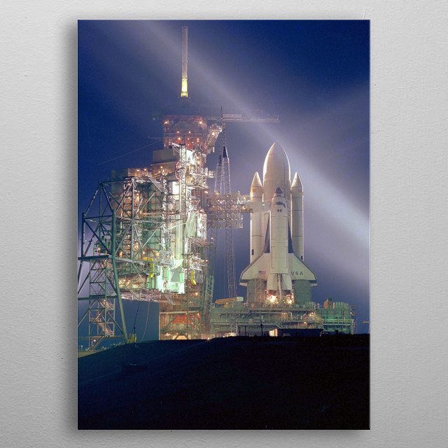 Space Shuttle Columbia STS-1 mission metal poster