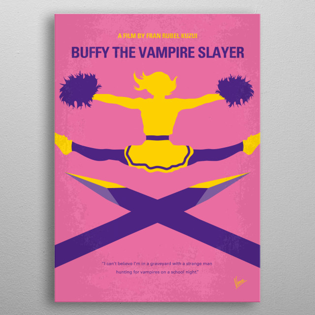 A flighty teenage girl learns that she is her generation's destined battler of vampires. metal poster