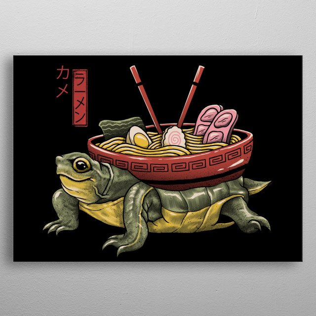 The elusive turtle ramen soup in Japanese form. metal poster