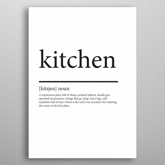 Kitchen synonym metal poster