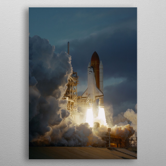 Space Shuttle Atlantis STS-74 mission metal poster