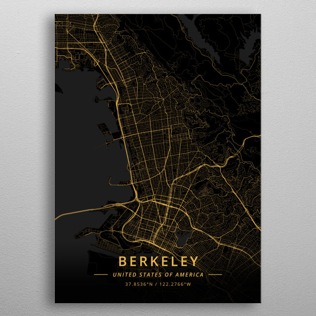 Berkeley, United States of America metal poster