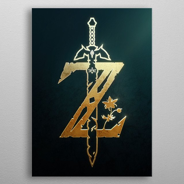 Breath of the Wild Gold metal poster