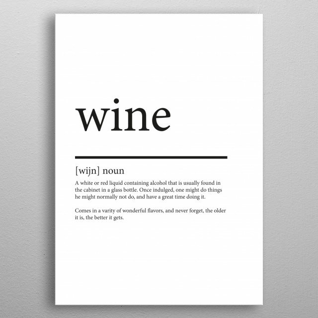 Wine synonym metal poster